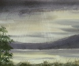 dark sky lakeside landscape 698