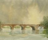 bridge over river landscape 506