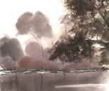 lakeside painting 615