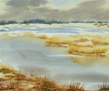 wide waters landscape painting 699