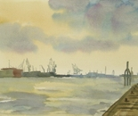harbour view painting 502