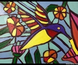 Stain Glass Hummingbird