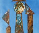 VU 164 Iron Sculpture with three Figures