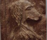 Dog wood carving