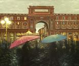 Piazza Della Repubblica (Blurred Umbrellas) ~ Florence, Italy
