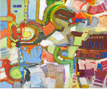 "ENTRE TERRE ET MER Acrylics on canvas 81x100cm/32x51"" 2013"