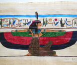 Goddess Maat - pharaonic art on papyri