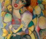 La fille-fleure 2004, 60x50cm