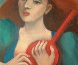 La fille à la guitare 2006, 60x50cm