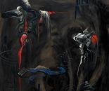 HU ZHIYING  Animal under Moon(1), 2010, oil,  acrylics on canvas,  200×170cm
