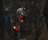 HU ZHIYING  Animal under Moon(2), 2010, oil,  acrylics on canvas,  200×170cm