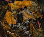 HU ZHIYING  Atoms ?, 1997, mixed media on canvas, 180×200cm