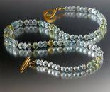 Aquamarine Far Faceted Rondelle Necklace