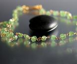 Demantoid Garnet Necklace in 14k Gold
