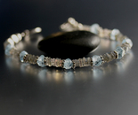 Aquamarine and Labradorite Bracelet