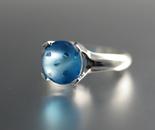 Blue Topaz Dot Ring
