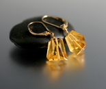 Abstract Citrine Earrings