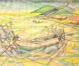 Barca scomposta a Goa