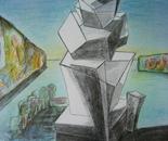 """Equilibrium 2 (2012) - pencil, pastels on paper, 14"""" x 17"""""""