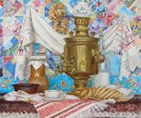 """Holiday Tea Party"" 2012. oil on canvas 90x90cm"