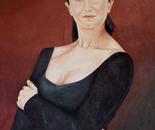 Jelena 1993, Oil on Canvas  60/80 cm.