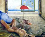 Illusions of Luna Park - 1988  Oil on Canvas, 107/122 cm