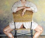 Vaska as a Model - 2000   Oil on Canvas, 122/137 cm
