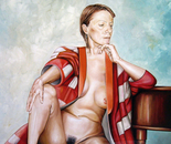 Vaska in Red Cout - 1998   Oil on Canvas, 92/122 cm