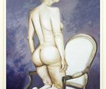 Vaska With Armchair - 2002   Oil on Canvas, 92/122 cm