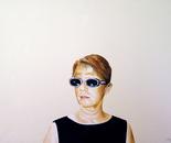 Vaska in Black Dress - 2003   Oil on Canvas, 80/60 cm