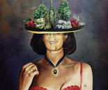 Hat of Forest - 1995  Oil on Canvas, 61/76 cm