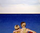 Brother & Sister as Sea & Sky - 1991   Oil on Canvas, 92/122 cm