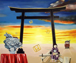 Transformation of Southern Cross into Japanese Perfection-1990   Oil on Canvas, 92/122 cm