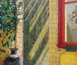 Window in the Backyard - 1987   Oil on Canvas, 102/102 cm