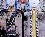 "Portrait of My Past Generation ""Krajputasi"" - 1987   Oil on Canvas, 92/122 cm"