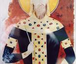 King Milutin, Fresco - 1992   Oil on Paper, 23/32 cm
