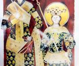 Czar Dushan & Prince Urosh, Fresco - 1992   Oil on Paper, 23/32 cm