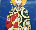 "King Stefan ""Prvovencani"", Fresco - 1992   0il on Paper, 23/32 cm"