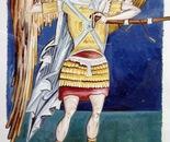 Archangel Gavrilo, Fresco - 1992   Oil on Paper, 23/32 cm