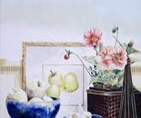 Garlic & Apples - 1992   Oil on Canvas, 50/60 cm