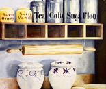 Kitchen - 1992   Oil on Canvas, 50/70 cm