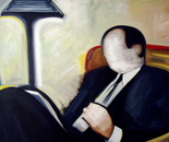 The Reader - 1998   Oil on Canvas, 122/107 cm