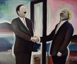 Deal - 1998   0il on Canvas, 137/107 cm