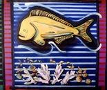 Golden Fish - 1998   Oil on Canvas, 107/92 cm