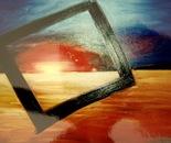 Night Skylight - 1998   Oil on Canvas, 137/107 cm