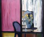 Wet Window - 1998   Oil on Canvas, 107/137 cm