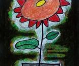 boy alkaf, save a flower, 740 x 420 mm, acrylic on canvas, 2012