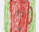 boy alkaf, bloomy glass, Acrylic on Paper, A4, 2013