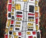 boy alkaf, about my homes 2007, 851 x 411 mm, acrylic on canvas, 2012
