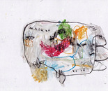 boy alkaf, untitle #4 part I, water colour on paper, F4, 2013